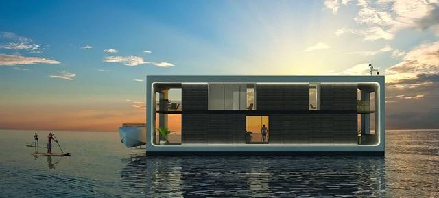 Dinh thự 400 m2 trên mặt nước tự vận hành bằng năng lượng xanh - 1