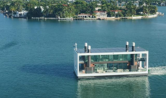 Dinh thự 400 m2 trên mặt nước tự vận hành bằng năng lượng xanh - 3