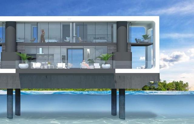 Dinh thự 400 m2 trên mặt nước tự vận hành bằng năng lượng xanh - 6