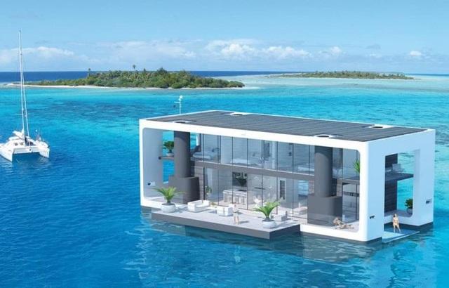 Dinh thự 400 m2 trên mặt nước tự vận hành bằng năng lượng xanh - 5
