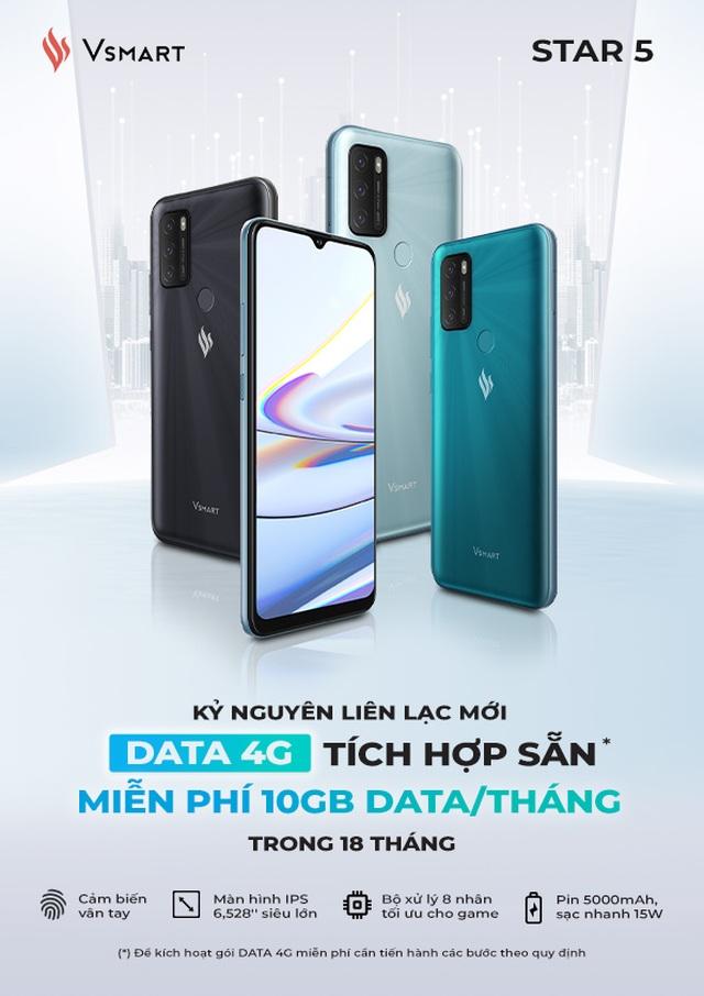 Vingroup ra mắt Vsmart Star 5 - Điện thoại kèm DATA 4G miễn phí tiên phong tại Việt Nam - 2