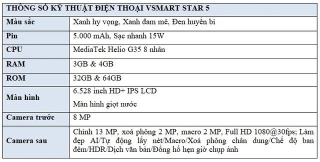 Vingroup ra mắt Vsmart Star 5 - Điện thoại kèm DATA 4G miễn phí tiên phong tại Việt Nam - 10