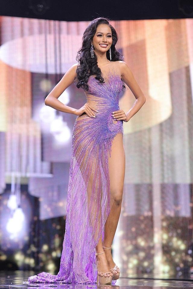 Ngọc Thảo trình diễn tại bán kết Hoa hậu hòa bình thế giới 2021 - 10