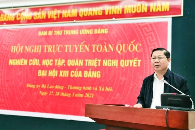Cán bộ chủ chốt Bộ LĐ-TBXH học tập Nghị quyết Đại hội XIII của Đảng - 1