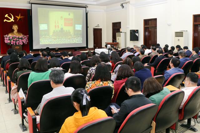 Cán bộ chủ chốt Bộ LĐ-TBXH học tập Nghị quyết Đại hội XIII của Đảng - 3