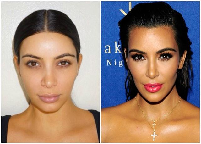 Kim Kardashian khác như thế nào khi không trang điểm - 3