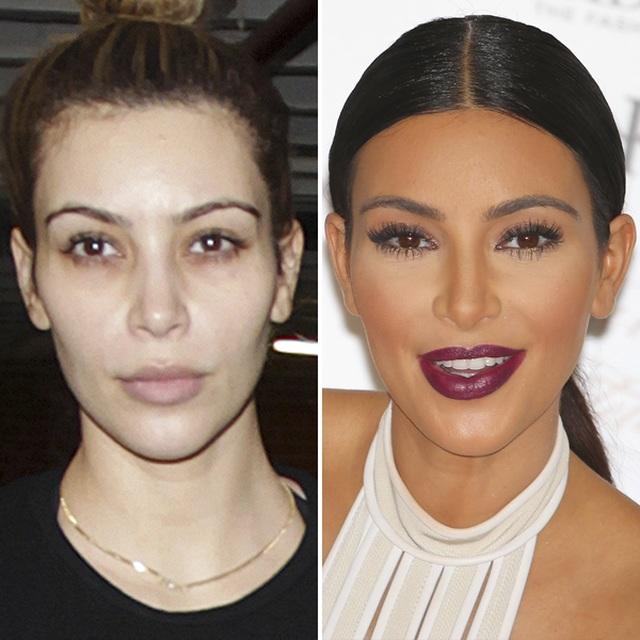 Kim Kardashian khác như thế nào khi không trang điểm - 5