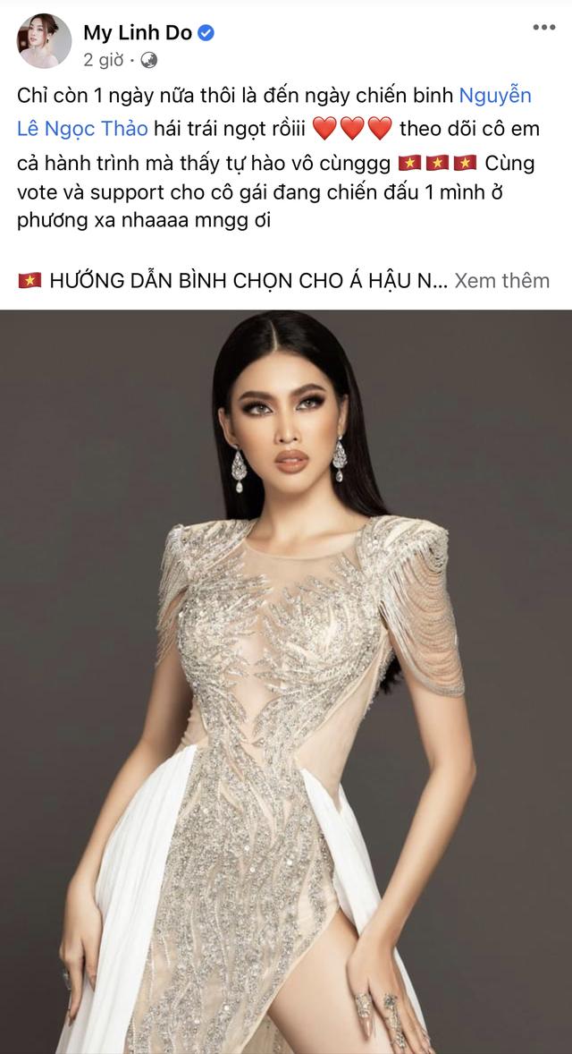 Ngọc Thảo dẫn đầu bình chọn trước đêm Chung kết Hoa hậu Hòa bình - 4