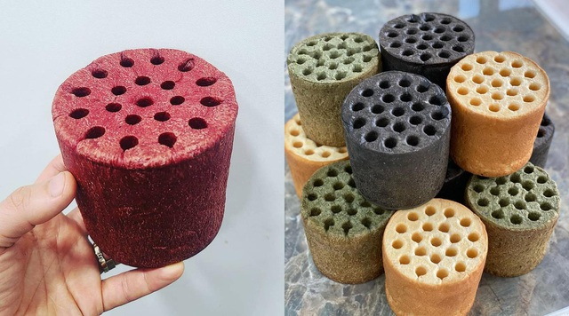 Honeycomb charcoal bread, guests compete to enjoy in Saigon - 3