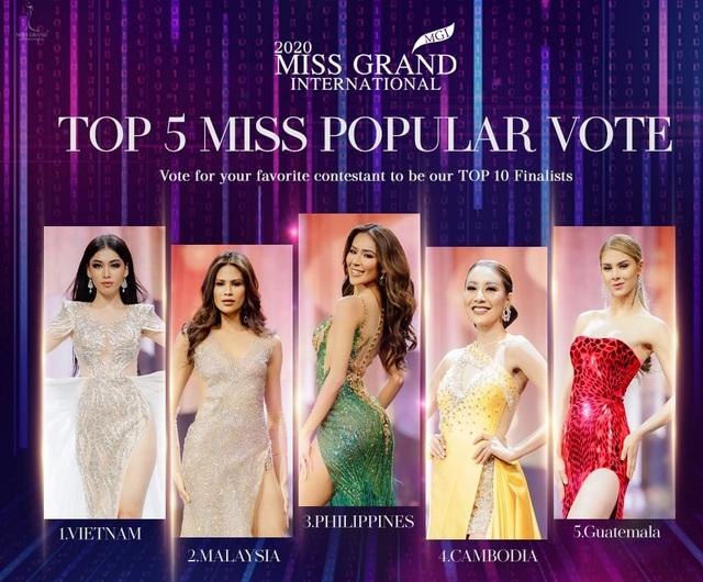 Ngọc Thảo dẫn đầu bình chọn trước đêm Chung kết Hoa hậu Hòa bình - 6