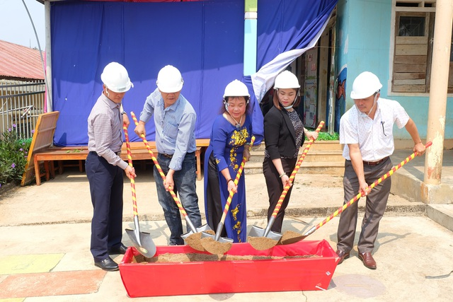 Quảng Trị: Hội Khuyến học xã hội hóa khởi công xây trường mầm non bản Bù - 1