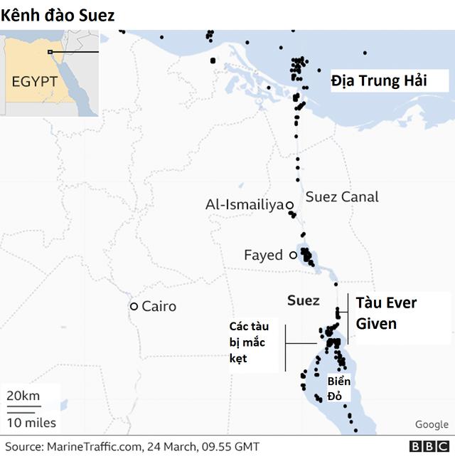 Nỗi sợ hãi khi siêu tàu mắc kẹt trên kênh đào Suez - 2
