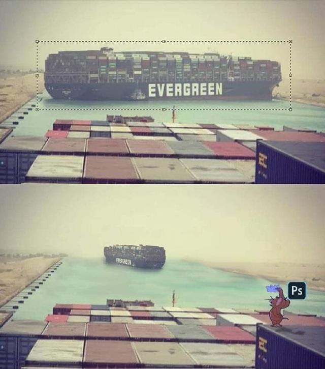 Dân mạng hiến kế giải cứu kênh Suez bằng loạt ảnh chế hài hước - 1