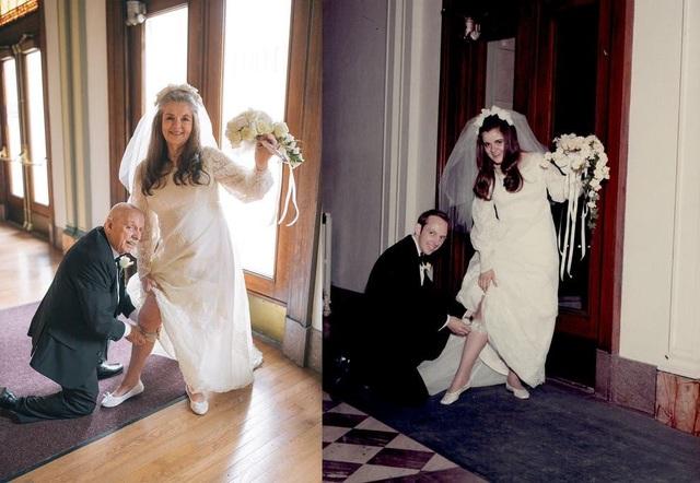 Ngưỡng mộ bộ ảnh cưới độc đáo của cặp vợ chồng U80 sau 50 năm kết hôn - 1