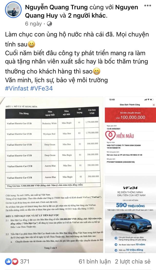 Ai là người đặt mua ô tô điện VinFast VF e34 nhiều nhất đến thời điểm này? - 5