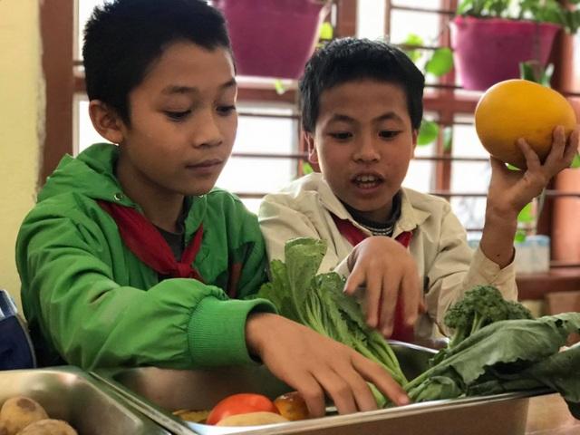 Học sinh thích thú khi giờ học là bắt sâu, là su hào, bắp cải, khoai tây... - 1