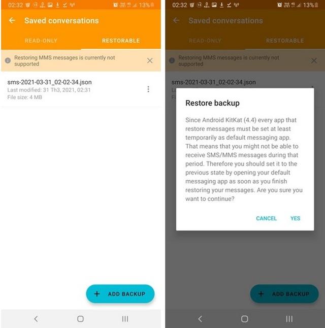 Thủ thuật giúp sao lưu và phục hồi toàn bộ tin nhắn trên smartphone - 4