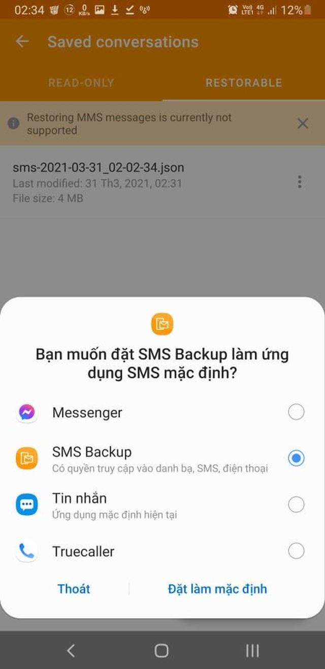 Thủ thuật giúp sao lưu và phục hồi toàn bộ tin nhắn trên smartphone - 5