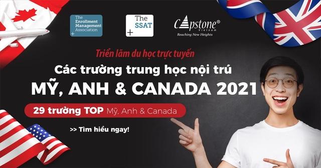 Triển lãm du học trực tuyến các trường Trung học Mỹ, Anh  Canada 2021 - 1