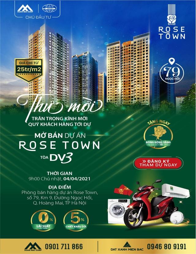 Mua căn hộ Rose Town, cơ hội được nhận xe SH - 3