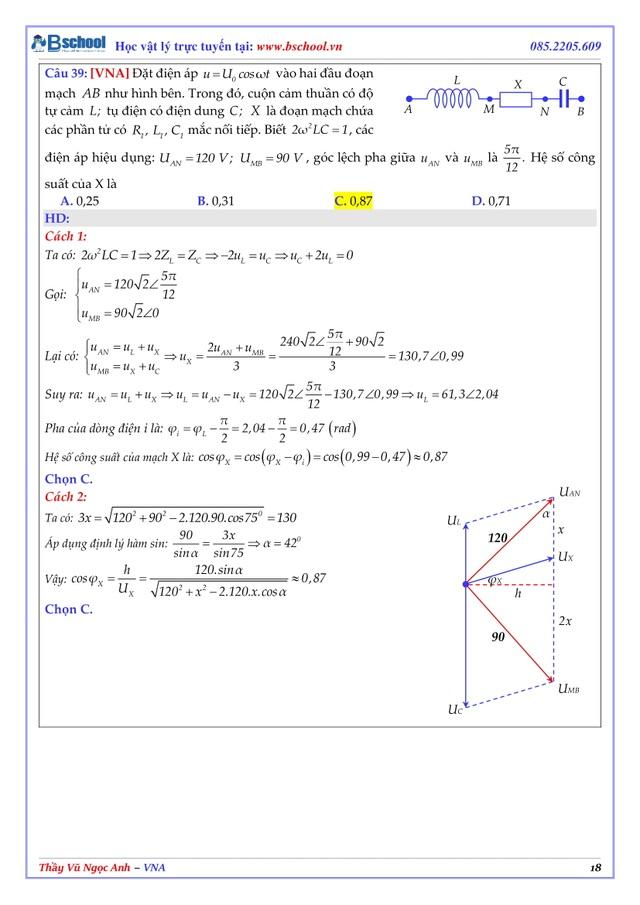 Nhận định, phân tích và giải chi tiết Đề minh họa THPT Quốc gia môn Vật Lý - thầy Vũ Ngọc Anh - 4