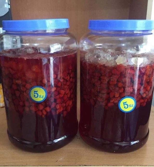 Năm chỉ có một lần, loại quả rừng đỏ au đổ về Hà Nội - 4