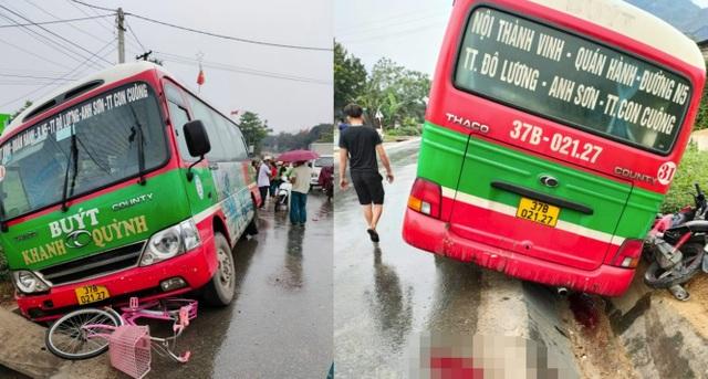 Xe buýt tông xe đạp, học sinh lớp 5 tử vong thương tâm trên đường đi học - 1
