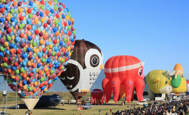Đắm mình vào mùa thu Nhật Bản trong lễ hội khinh khí cầu lớn nhất châu Á - 7