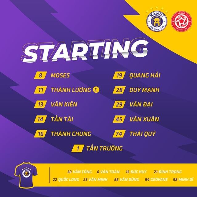 CLB Hà Nội 0-1 CLB Viettel: Trọng Hoàng ghi bàn, Quang Hải kém duyên - 28