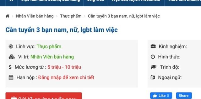 Doanh nghiệp tuyển ứng viên đồng tính, chuyển giới: Tín hiệu tích cực! - 1