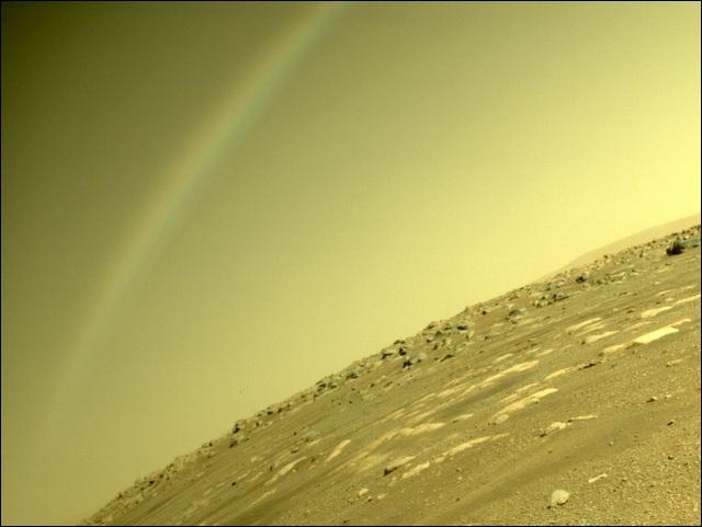 Lần đầu tiên ghi lại được hình ảnh giống cầu vồng trên Sao Hỏa - 1
