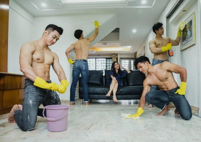 Độc đáo dịch vụ cho thuê trai đẹp sáu múi cởi trần đến dọn nhà - 1