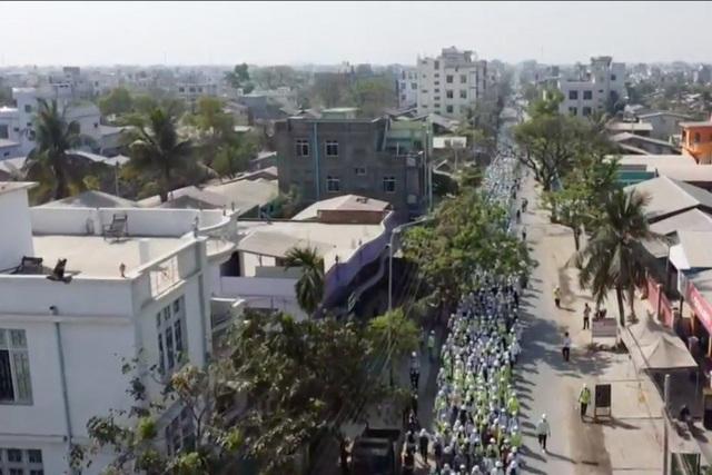 Quân đội Myanmar dùng UAV Trung Quốc ứng phó biểu tình - 1