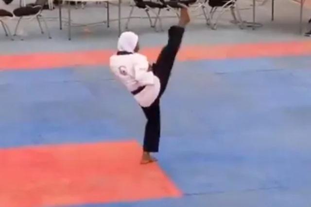 Vận động viên mang thai 8 tháng giành huy chương vàng Taekwondo - 1