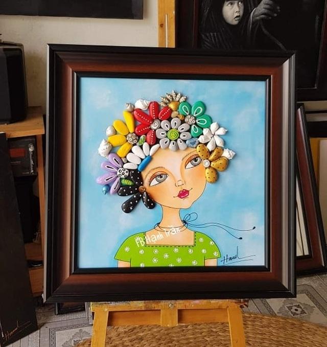 Sửng sốt với những bức tranh từ đá đẹp mê hồn của nữ họa sỹ ở Đà Nẵng - 4