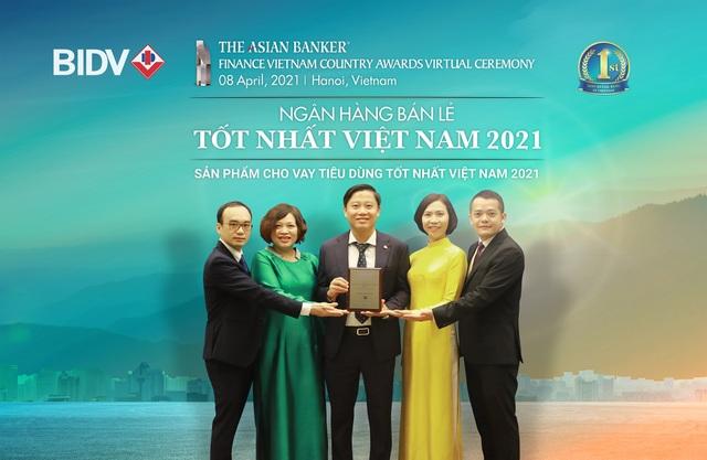 BIDV nhận giải Ngân hàng bán lẻ tốt nhất Việt Nam lần thứ 6 - 2