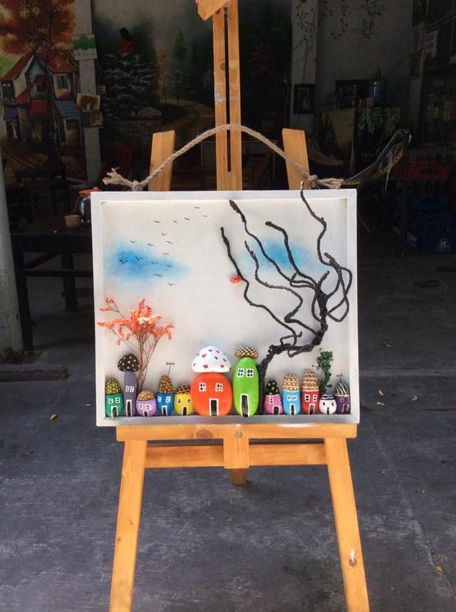 Sửng sốt với những bức tranh từ đá đẹp mê hồn của nữ họa sỹ ở Đà Nẵng - 3