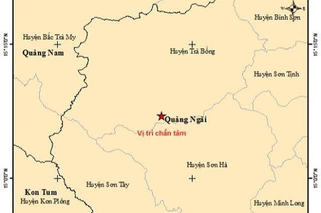 Liên tiếp xảy ra động đất ở Quảng Ngãi - 1
