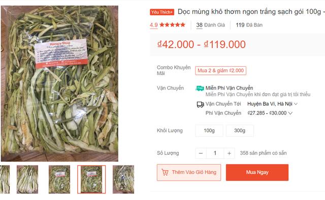 Dọc mùng sấy khô thành đặc sản nơi phố thị, hét giá 300.000 đồng/kg - 2