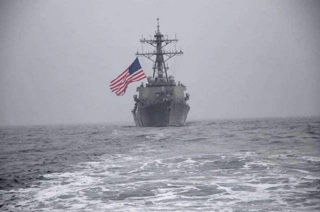 Nga cảnh báo tàu chiến Mỹ tránh xa Crimea - 1