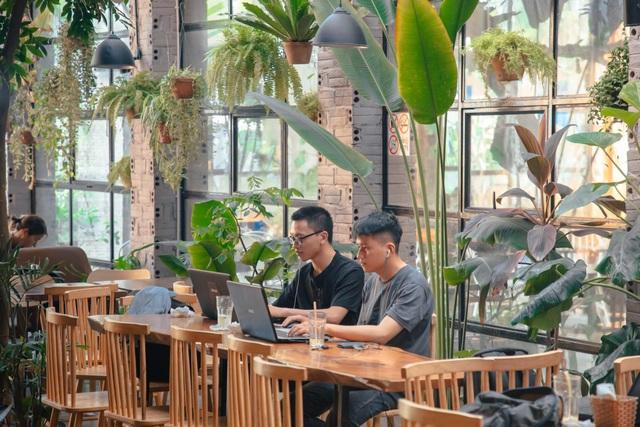 Tránh nắng ở những quán cà phê tràn ngập cây xanh giữa lòng Thủ đô - 3