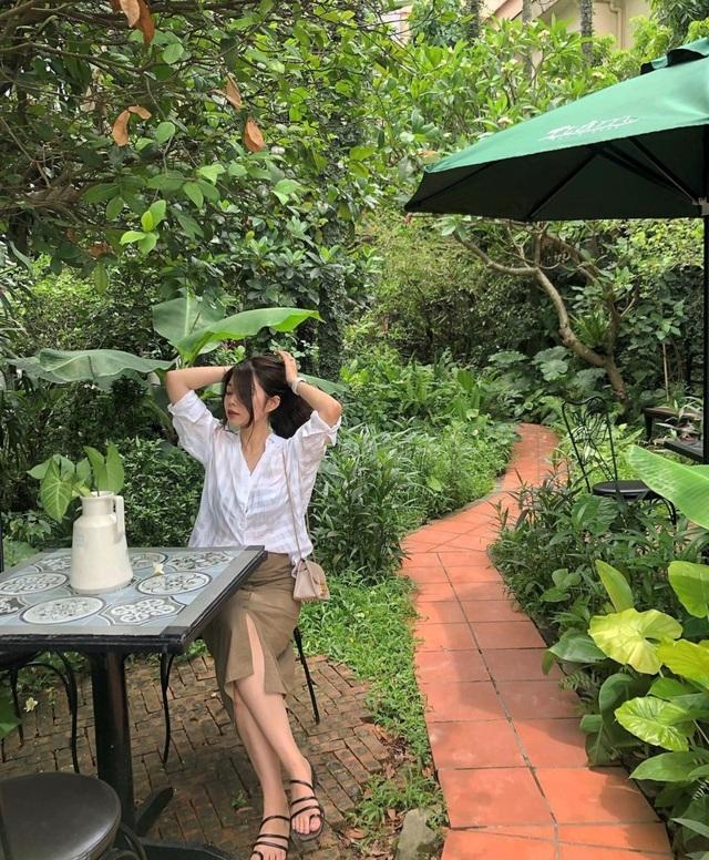 Tránh nắng ở những quán cà phê tràn ngập cây xanh giữa lòng Thủ đô - 8