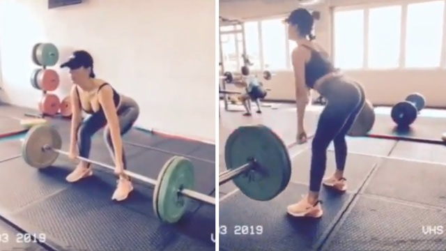 Bạn gái C.Ronaldo khoe ba vòng bốc lửa khi tập gym - 4