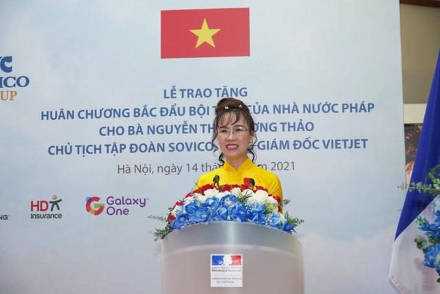 Nữ doanh nhân Nguyễn Thị Phương Thảo nhận Huân chương Bắc đẩu bội tinh của Nhà nước Pháp trao tặng - 1
