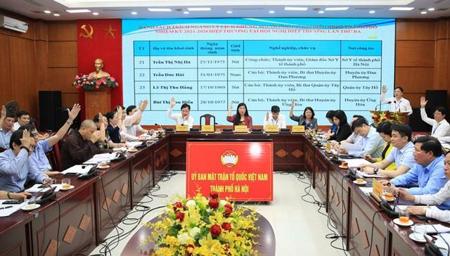 Chốt danh sách 160 ứng viên đại biểu HĐND Thành phố Hà Nội - 1
