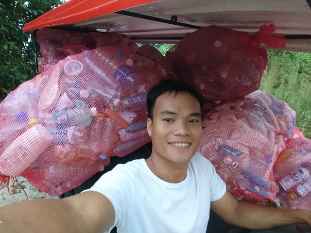 Chàng trai xây nhà từ 6000 chai nhựa trên đảo Bé Lý Sơn - 1