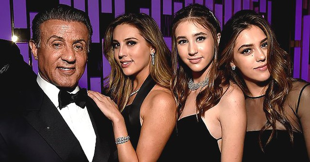 Ba cô con gái xinh như thiên thần của Rambo Sylvester Stallone - 5
