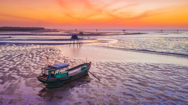 Sửng sốt vẻ đẹp của cánh đồng nuôi ngao trên bãi biển Thái Bình - 7