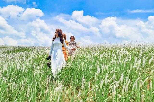 Thiếu nữ HMông khoe sắc xinh đẹp bên đồi cỏ tranh trắng muốt Đắk Nông - 3