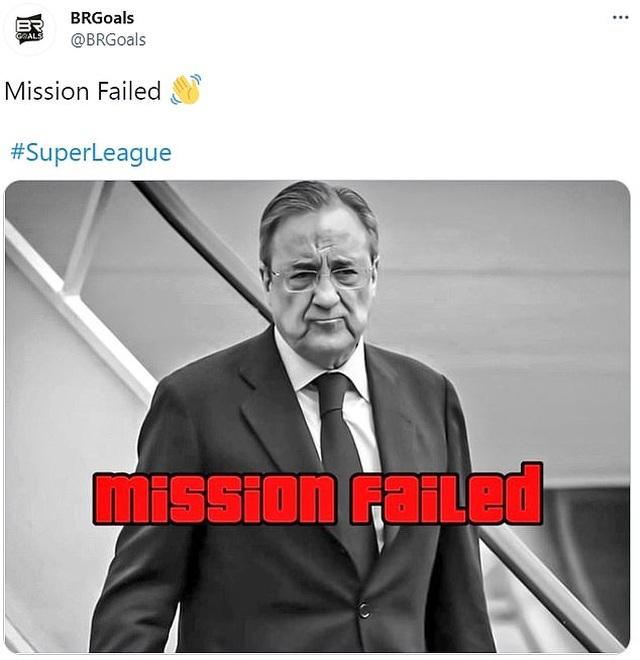 Mạng xã hội tràn ngập ảnh chế sự sụp đổ của European Super League - 4